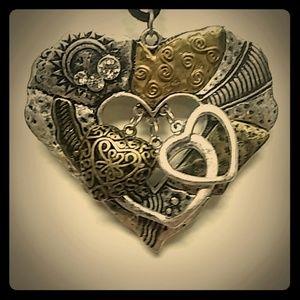 efm Black Leather Necklace